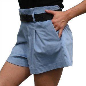 NWT Zara faux suede blue short size Medium